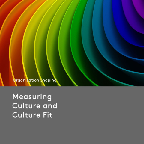 Measuring Culture and Culture Fit
