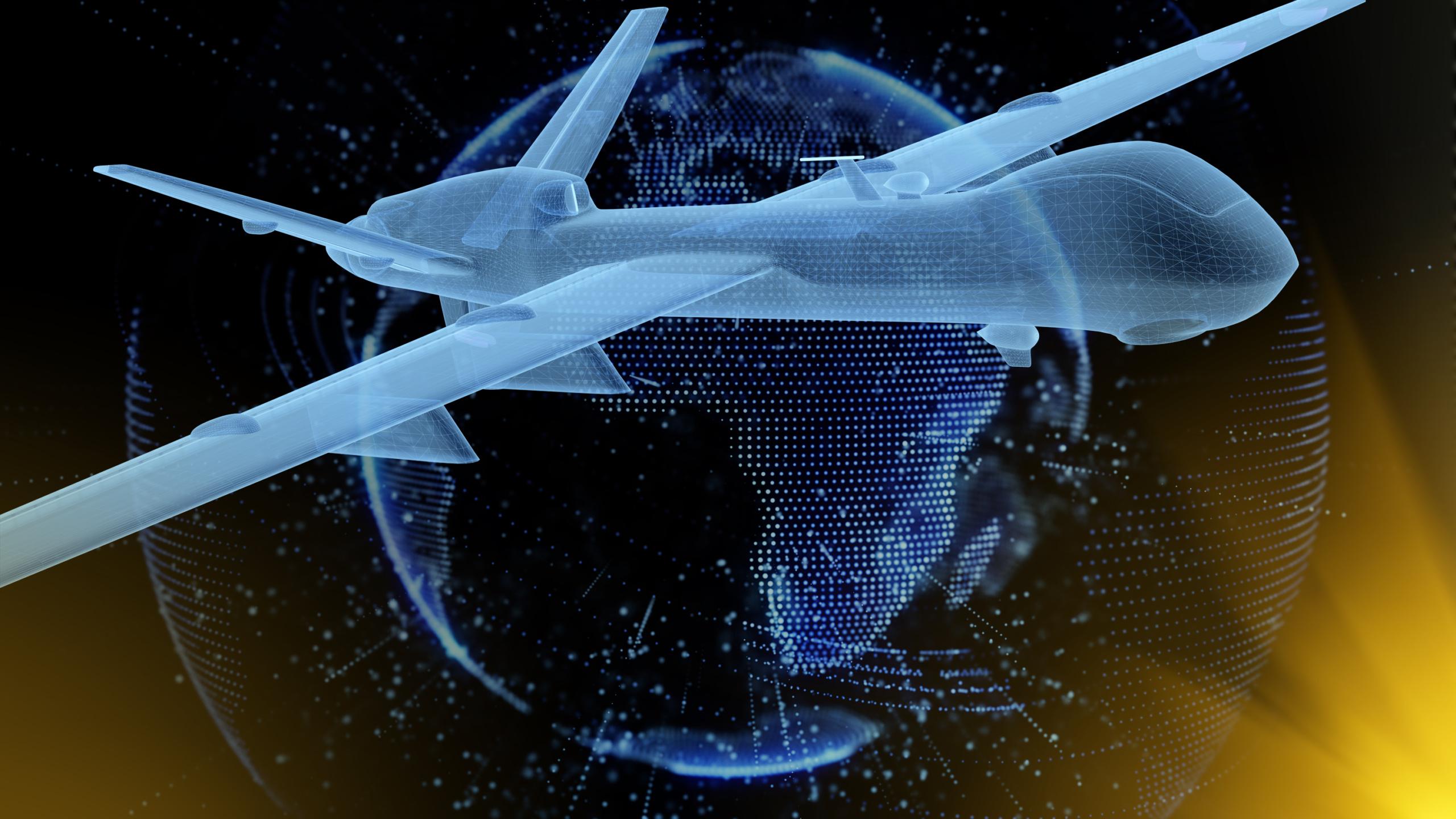 UAV under digital earth